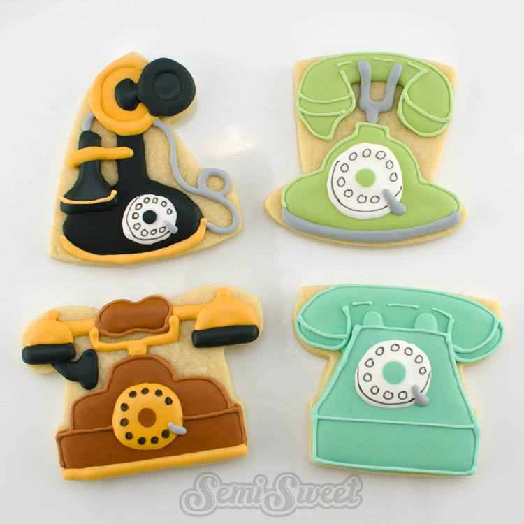 Old-Fashioned Telephone Cookies