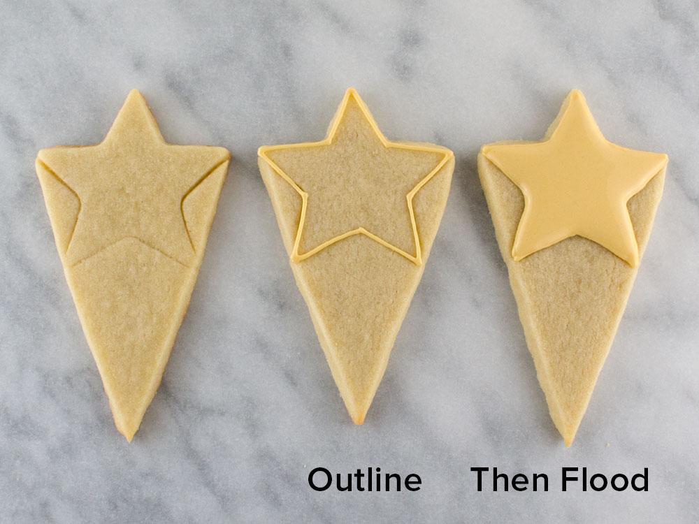 decorating starburst cookie platter step 1