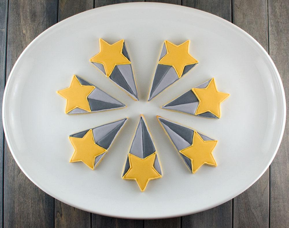 starburst cookie platter step 1