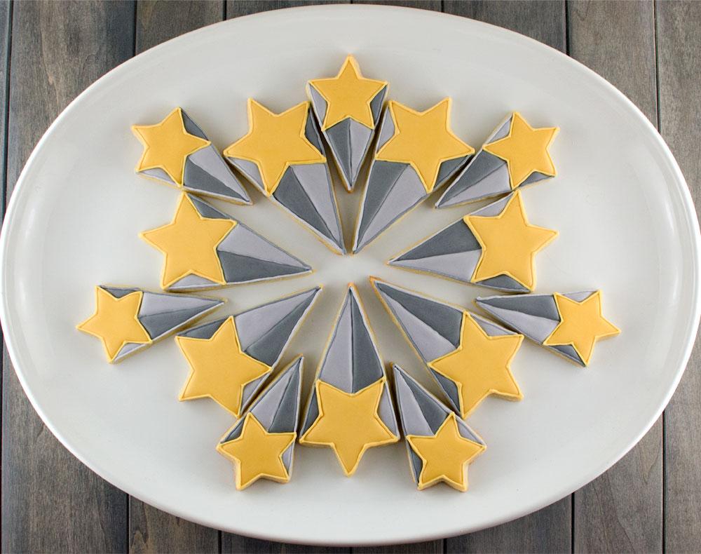 starburst cookie platter step 2