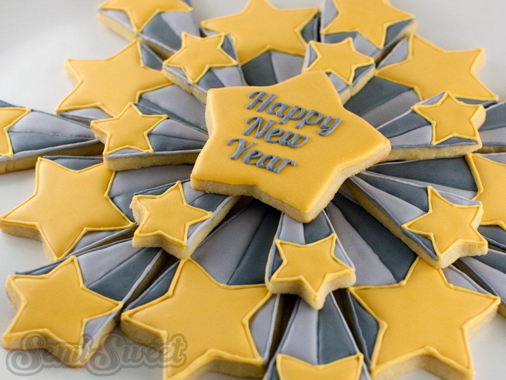 New Year's Starburst Cookie Platter