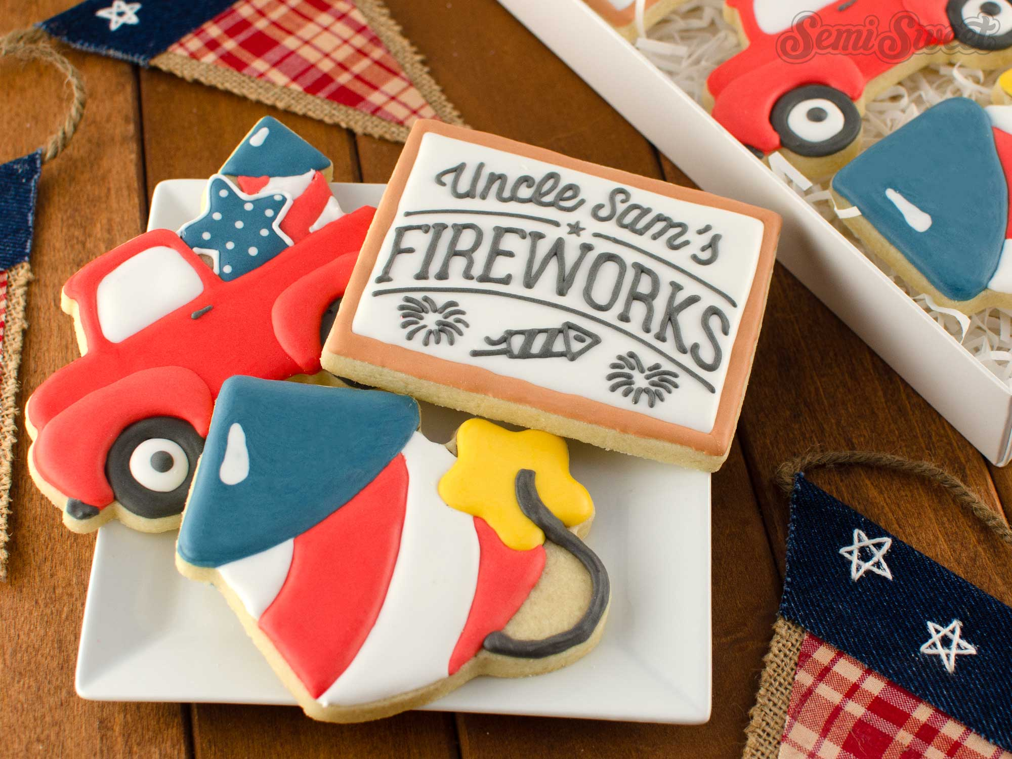 How to Make Fireworks Cookies