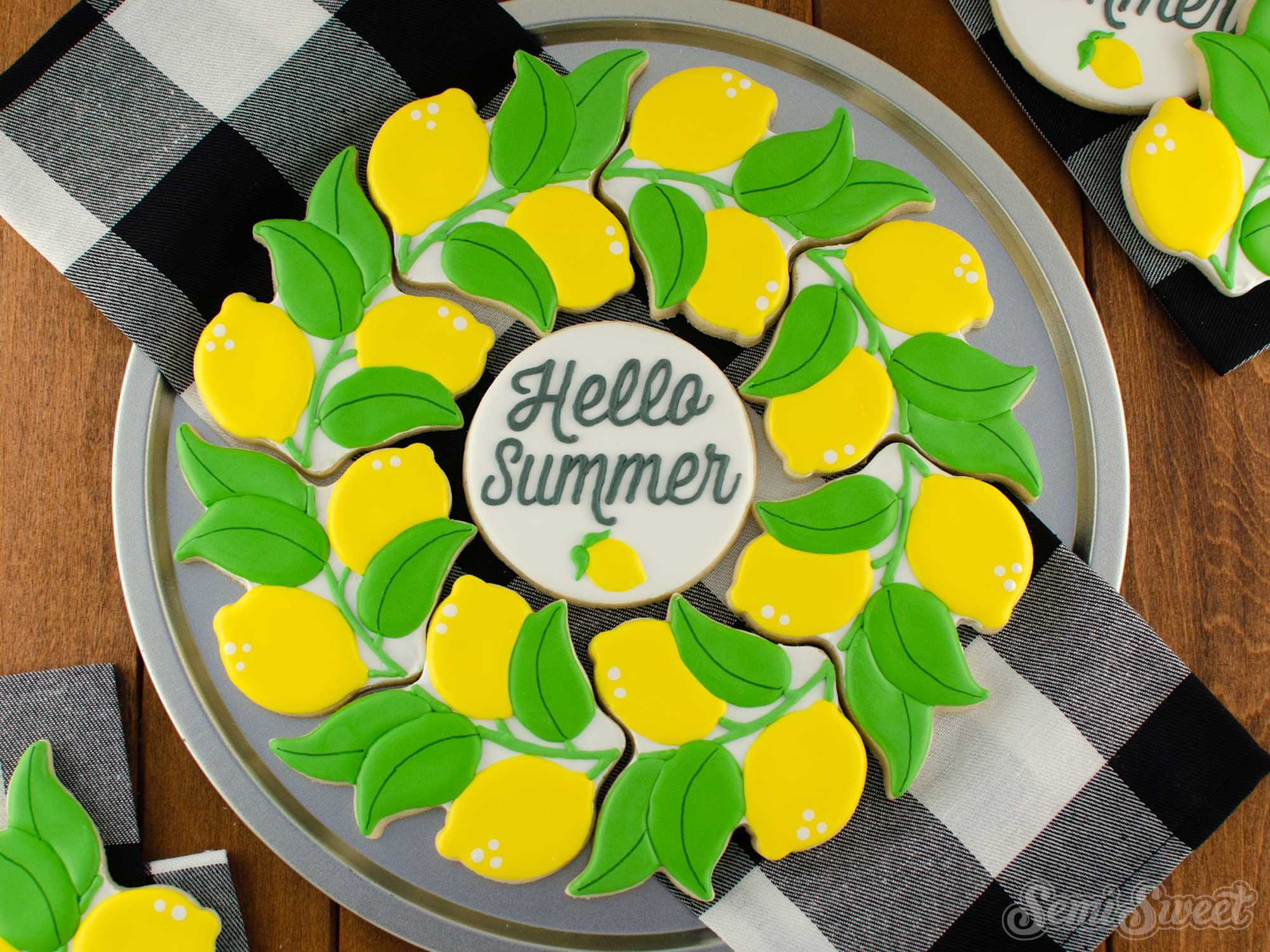How to Make a Lemon Wreath Cookie Platter