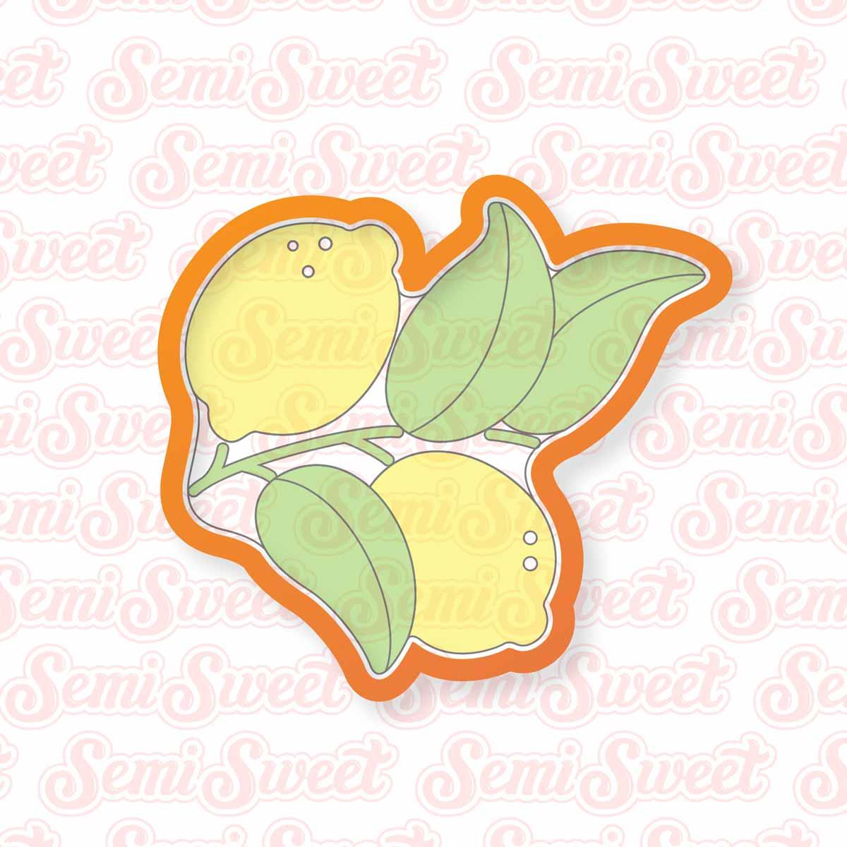 lemon wreath platter cookie cutter | Semi Sweet Designs