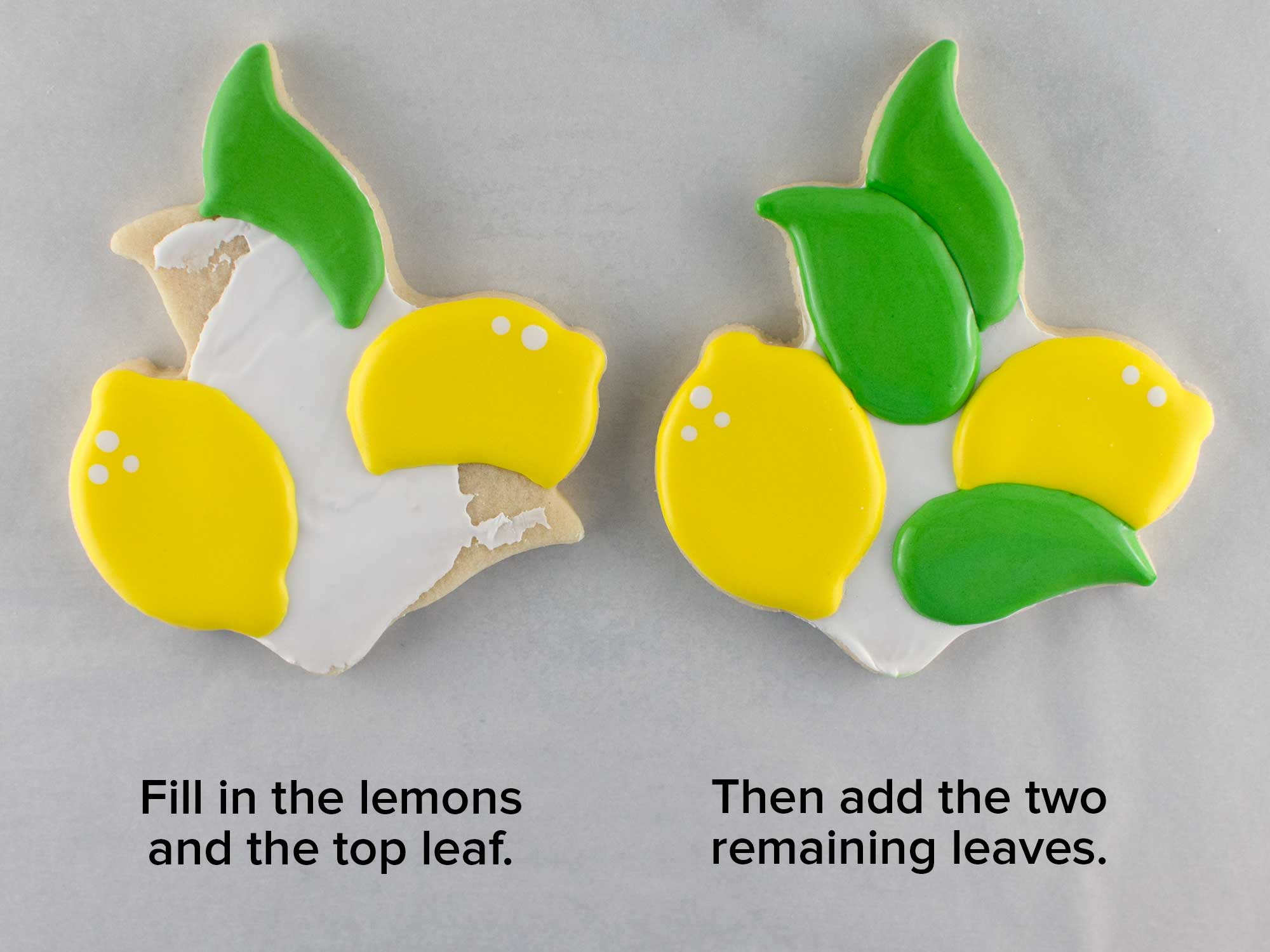 lemon wreath cookie platter step 3