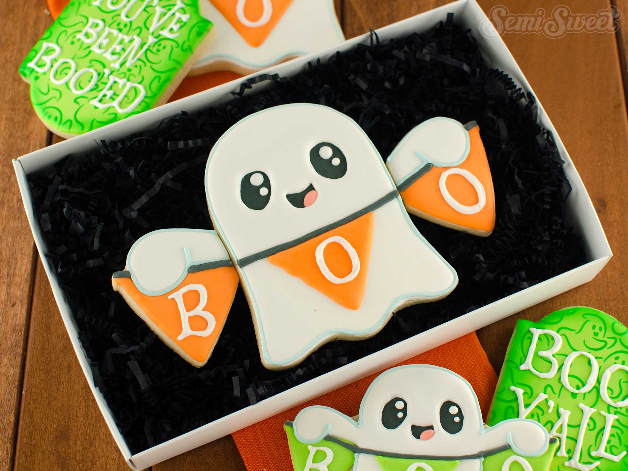 How to Make a Banner Ghost Cookie Set