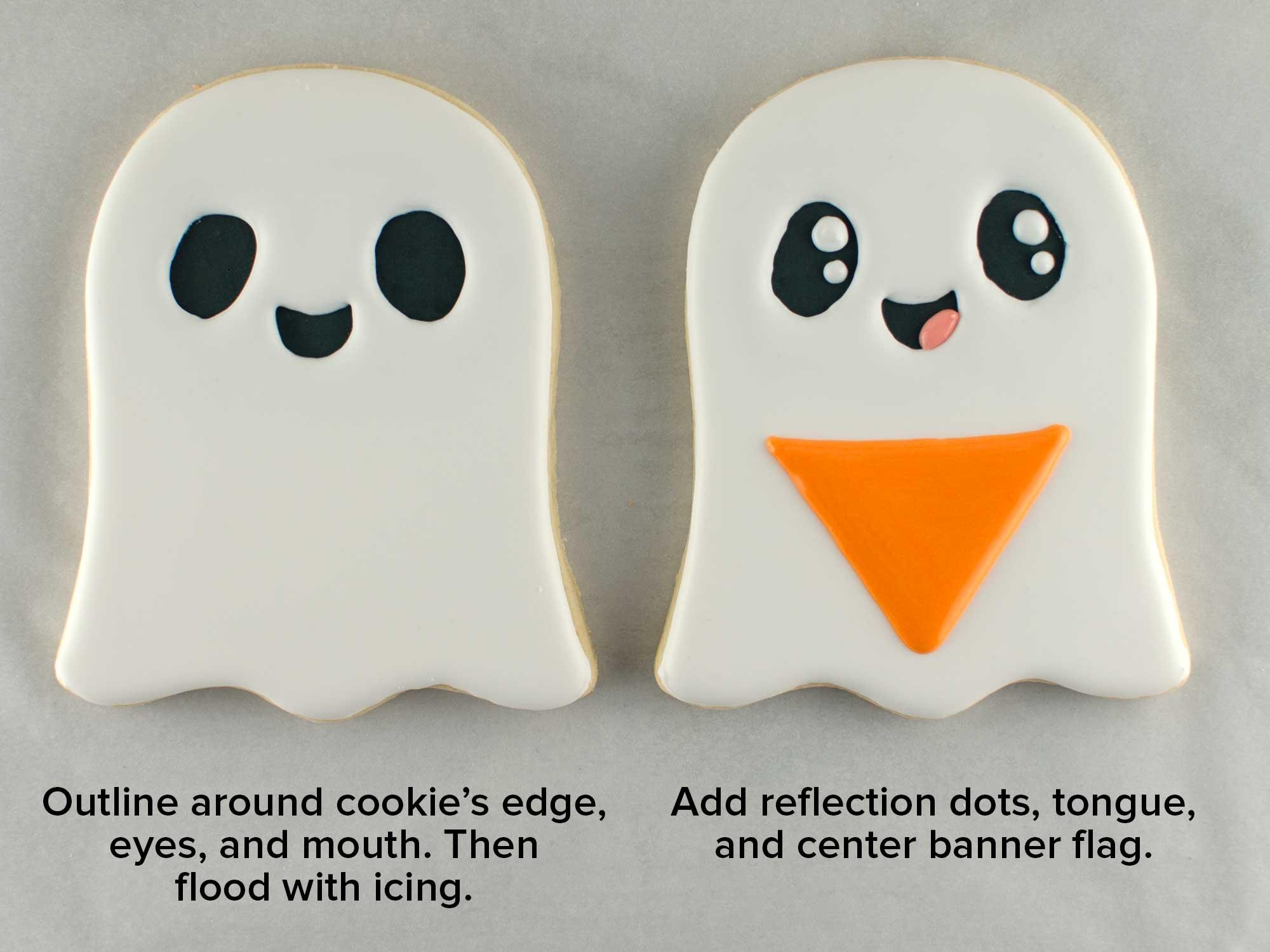 banner ghost cookies step 2