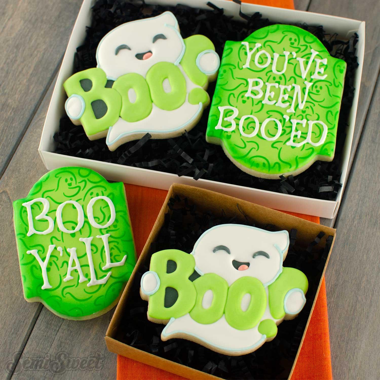 boo ghost cookie | Semi sweet designs