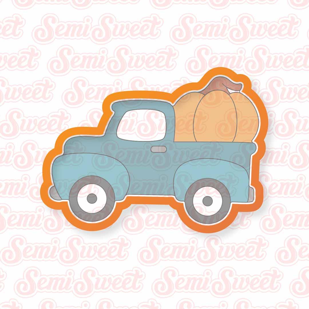 fall pumpkin truck cookie cutter | Semi Sweet Designs