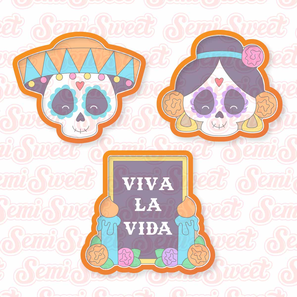 Day of the Dead cookie cutters | Semi Sweet Designs