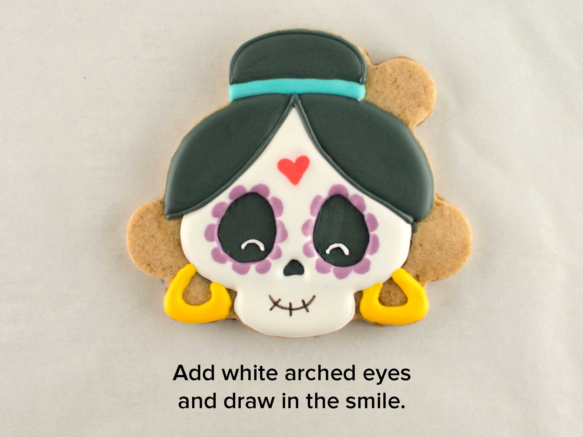 Day of the Dead skull cookies step 4