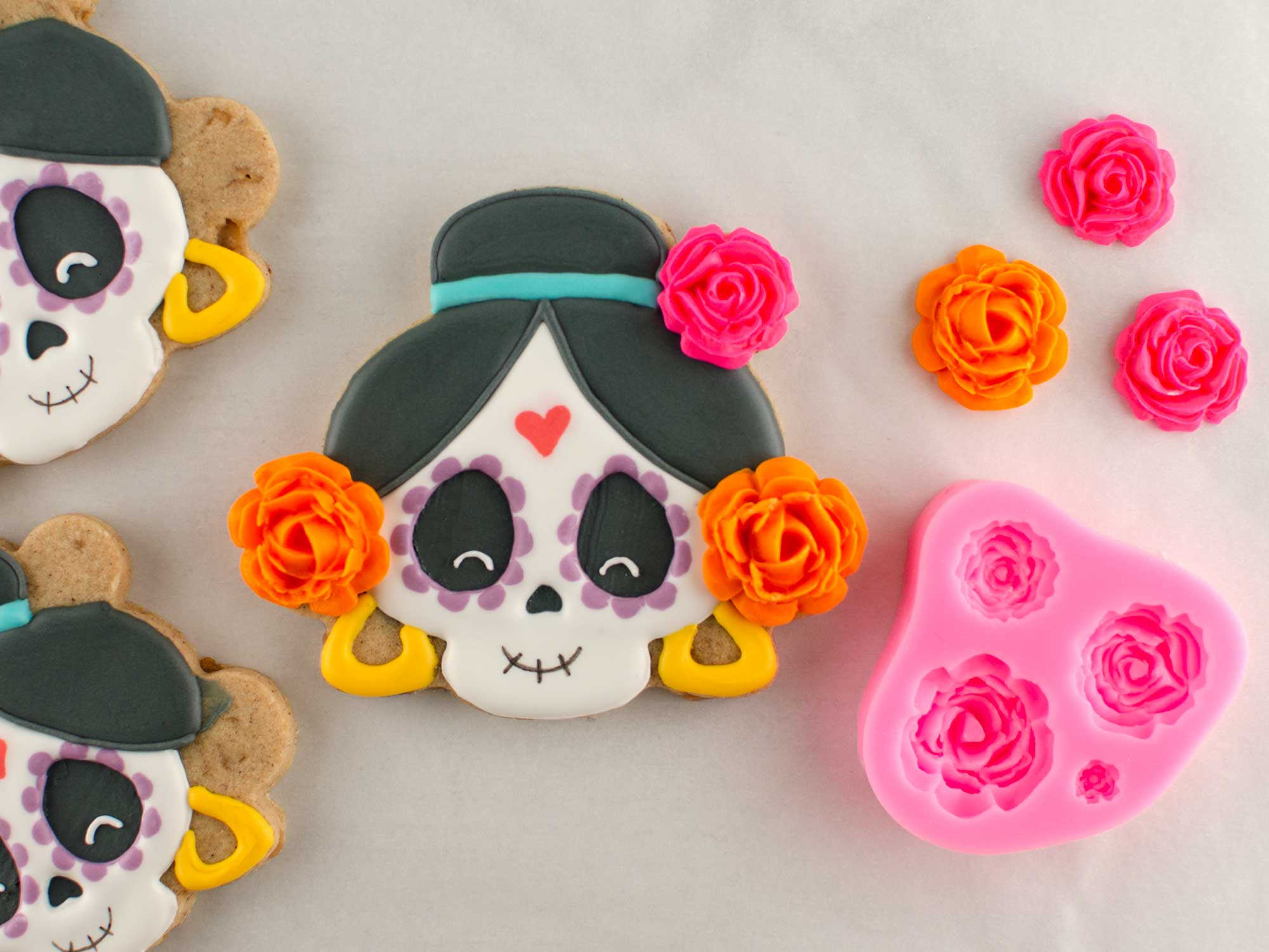 day of the dead skull cookies step 5
