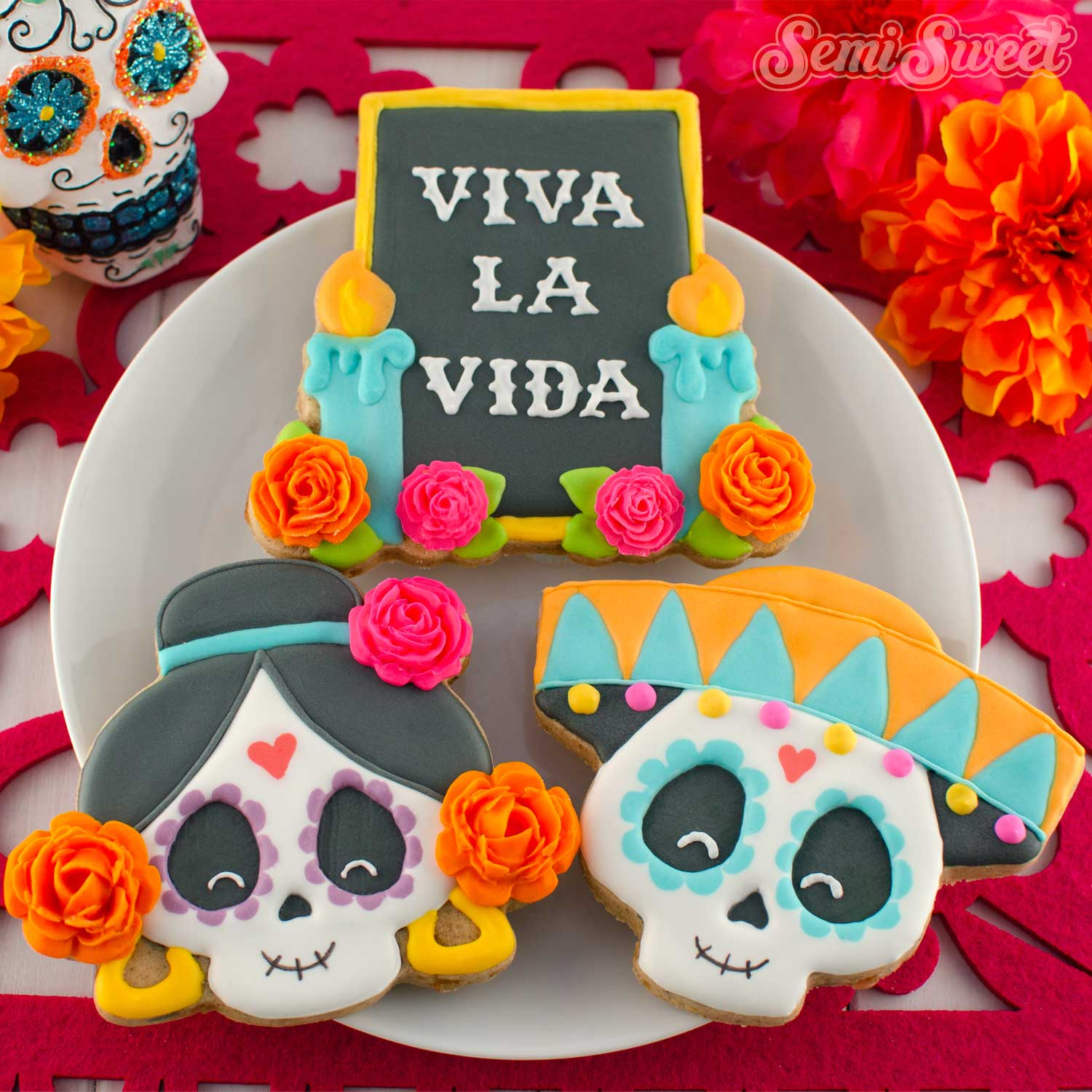 Day of the Dead Dia de los Muertos Cookies | Semi Sweet Designs