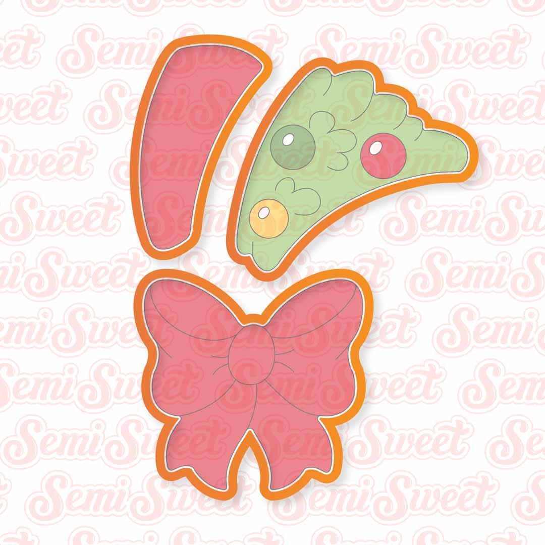 christmas wreath cookie cutter platter set | Semi Sweet Designs