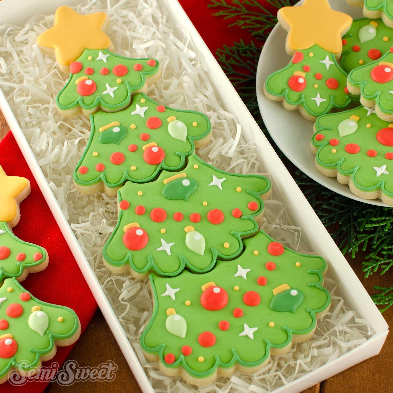 How to Make a Christmas Tree Cookie Set