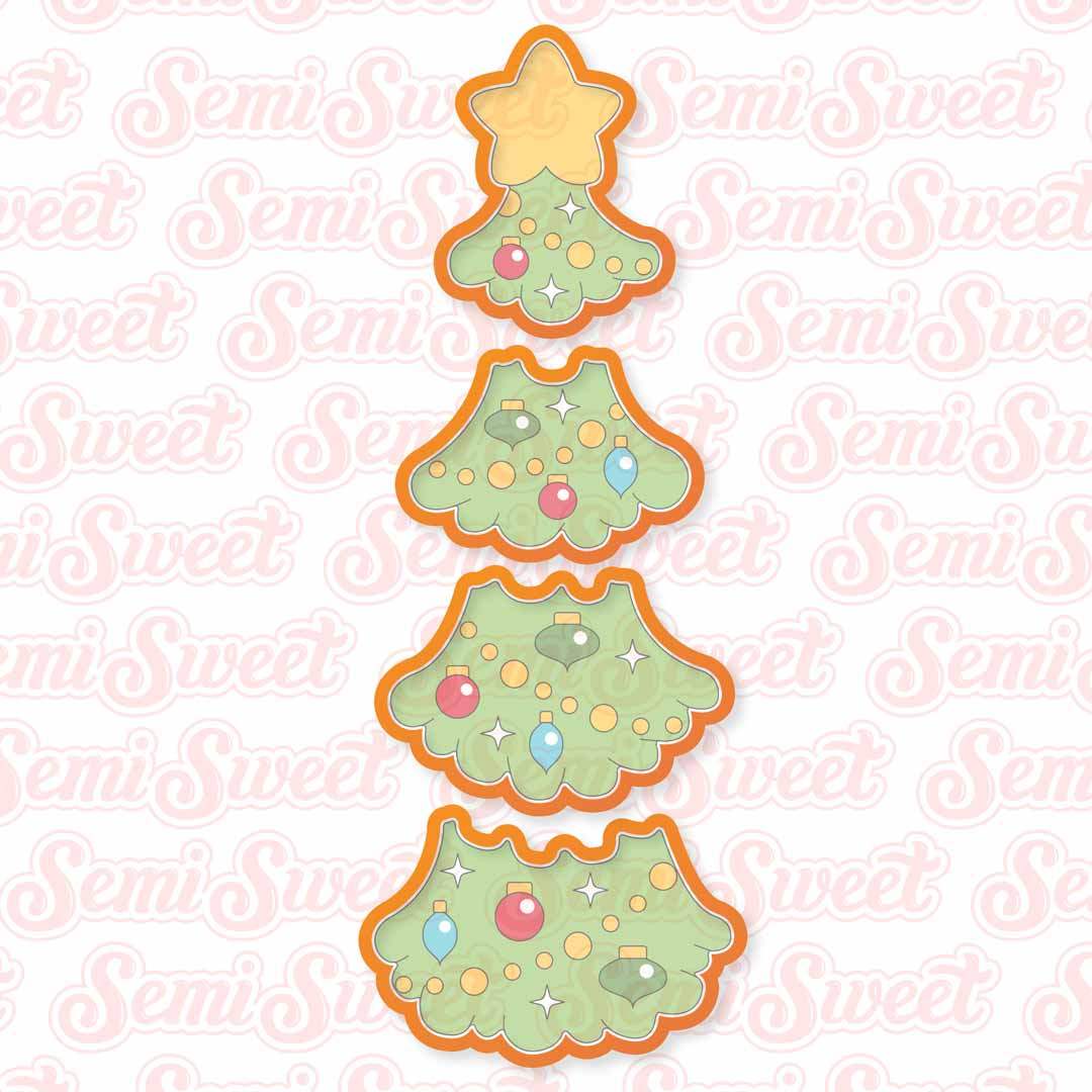 Stackable Christmas Tree Cookie Cutter Set | Semi Sweet Designs