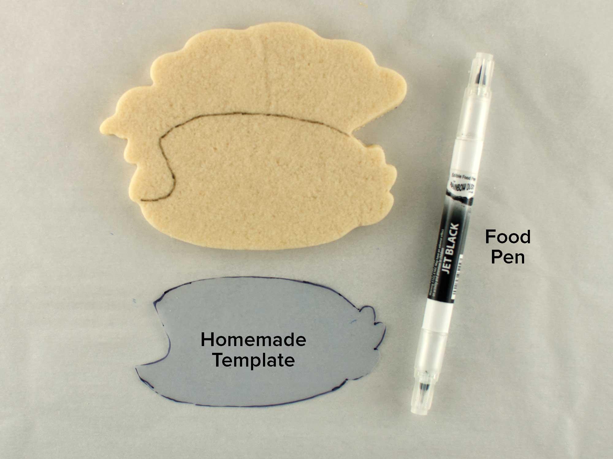 turkey plaque cookie step 1