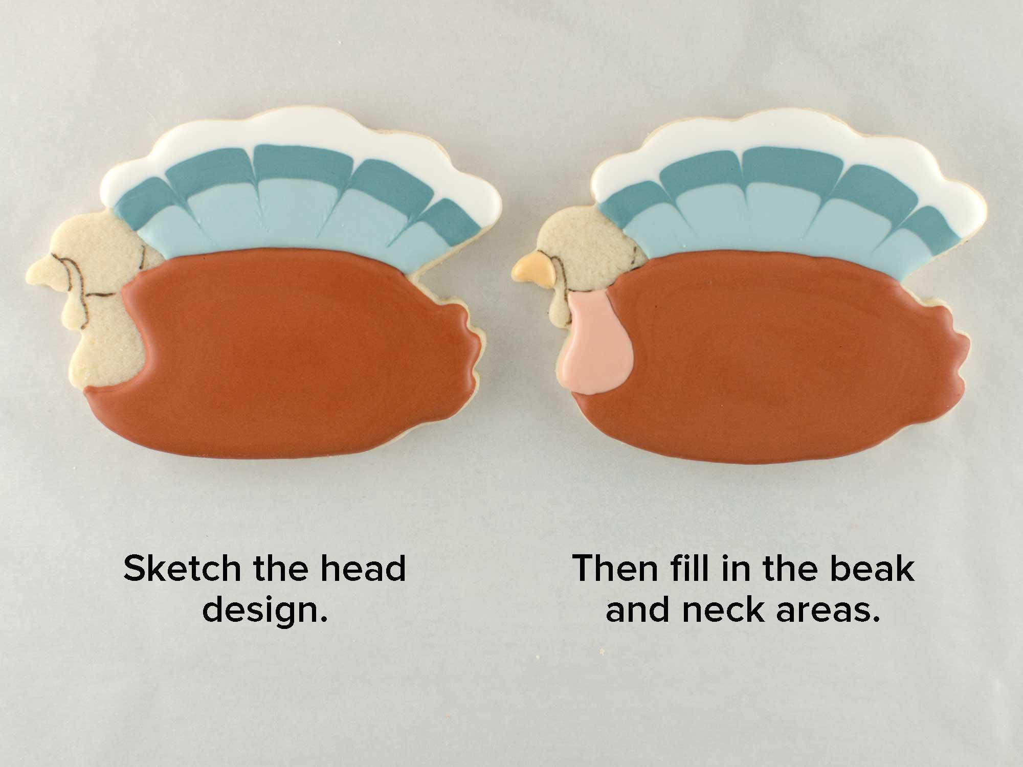 turkey plaque cookies step 3