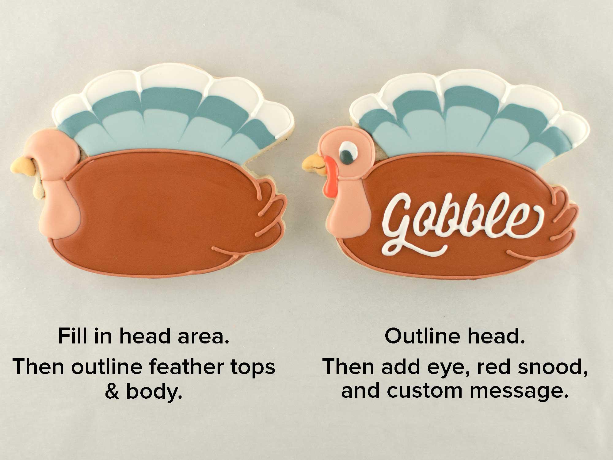 turkey plaque cookies step 4