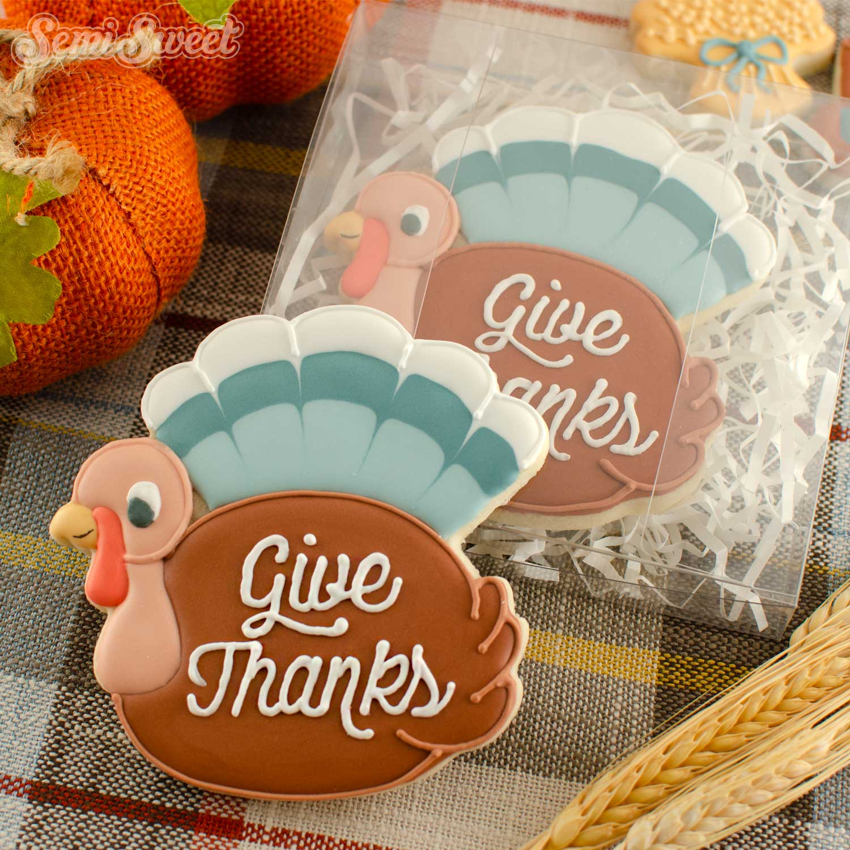 chubby turkey cookie | Semi Sweet Designs