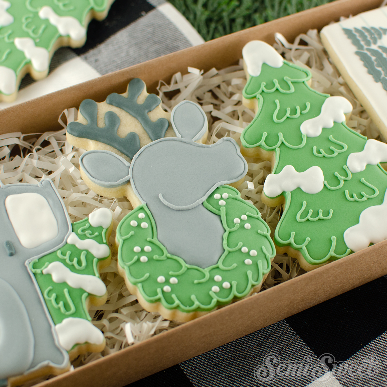 How to Make Reindeer Wreath Cookies