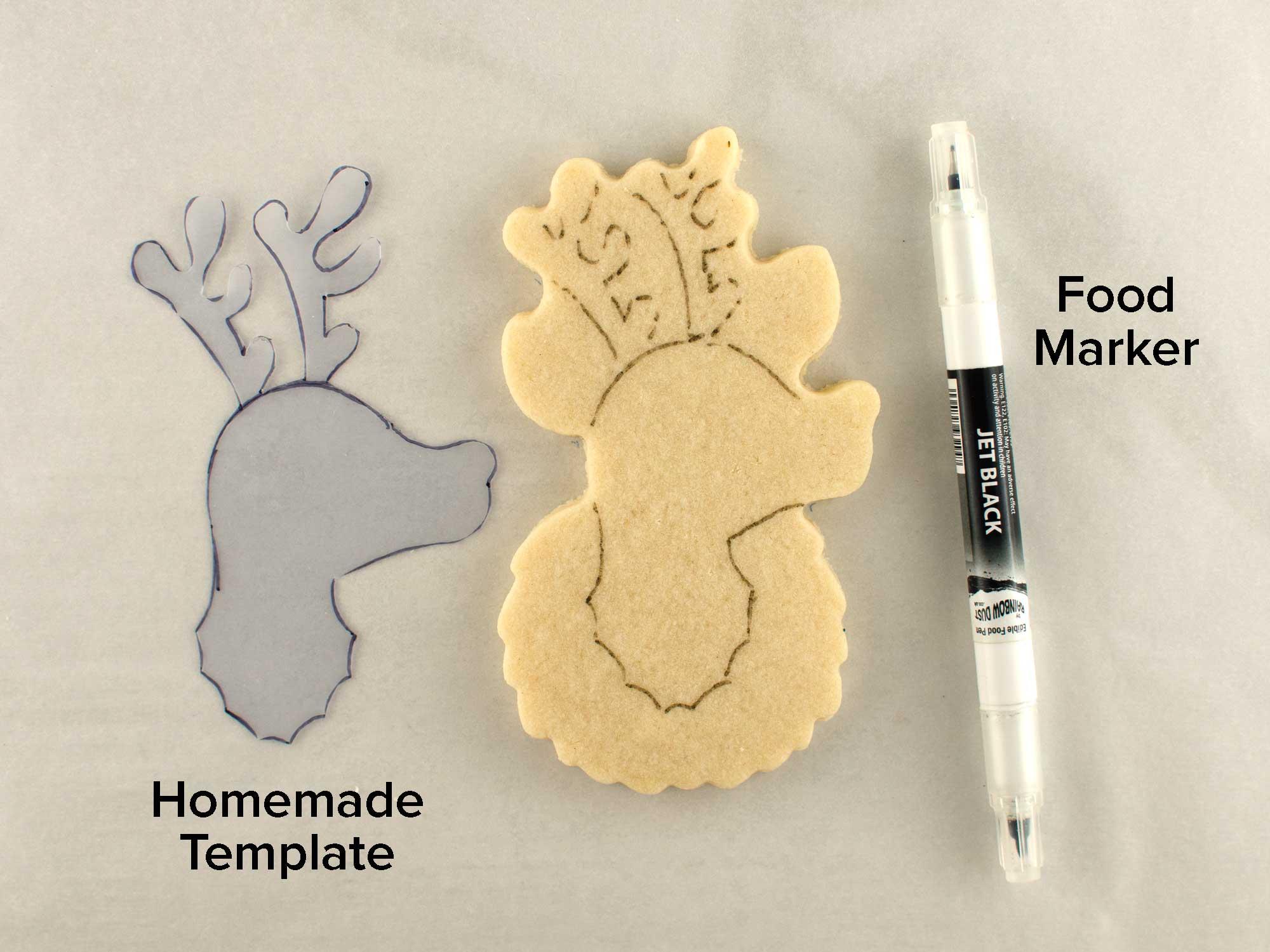 reindeer wreath cookies step 1