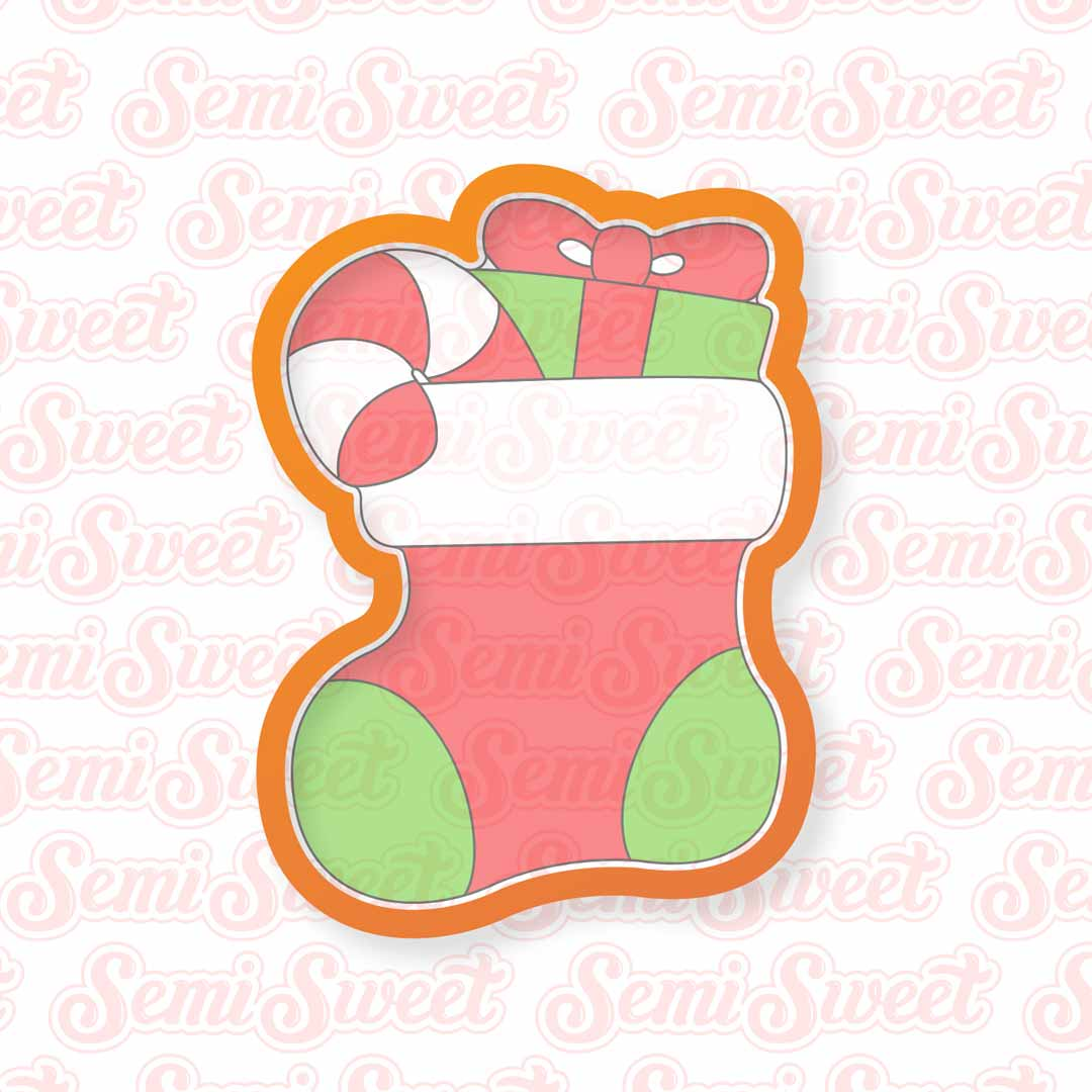 christmas stocking cookie cutter   Semi Sweet Designs