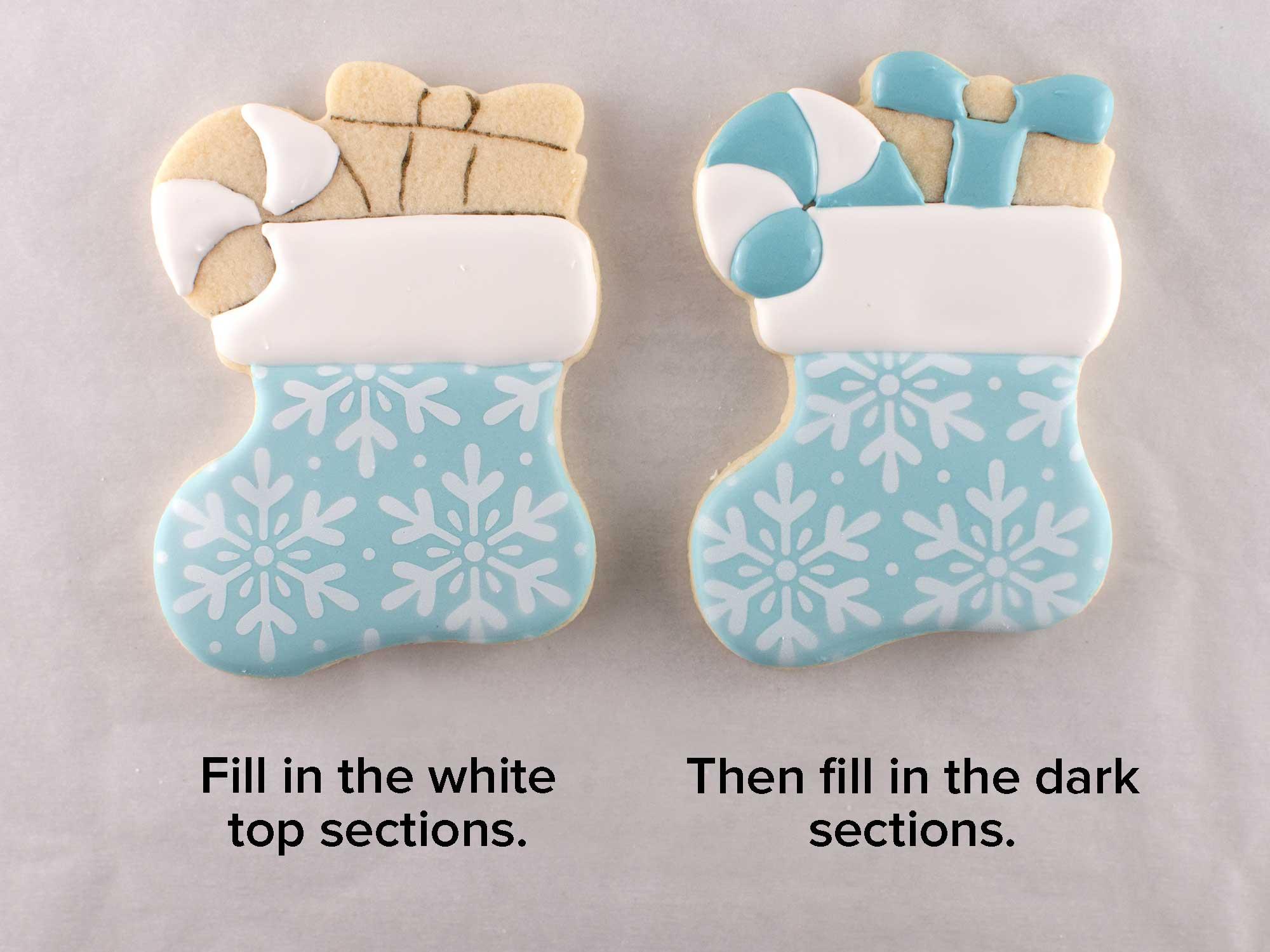Christmas stocking cookies step 3