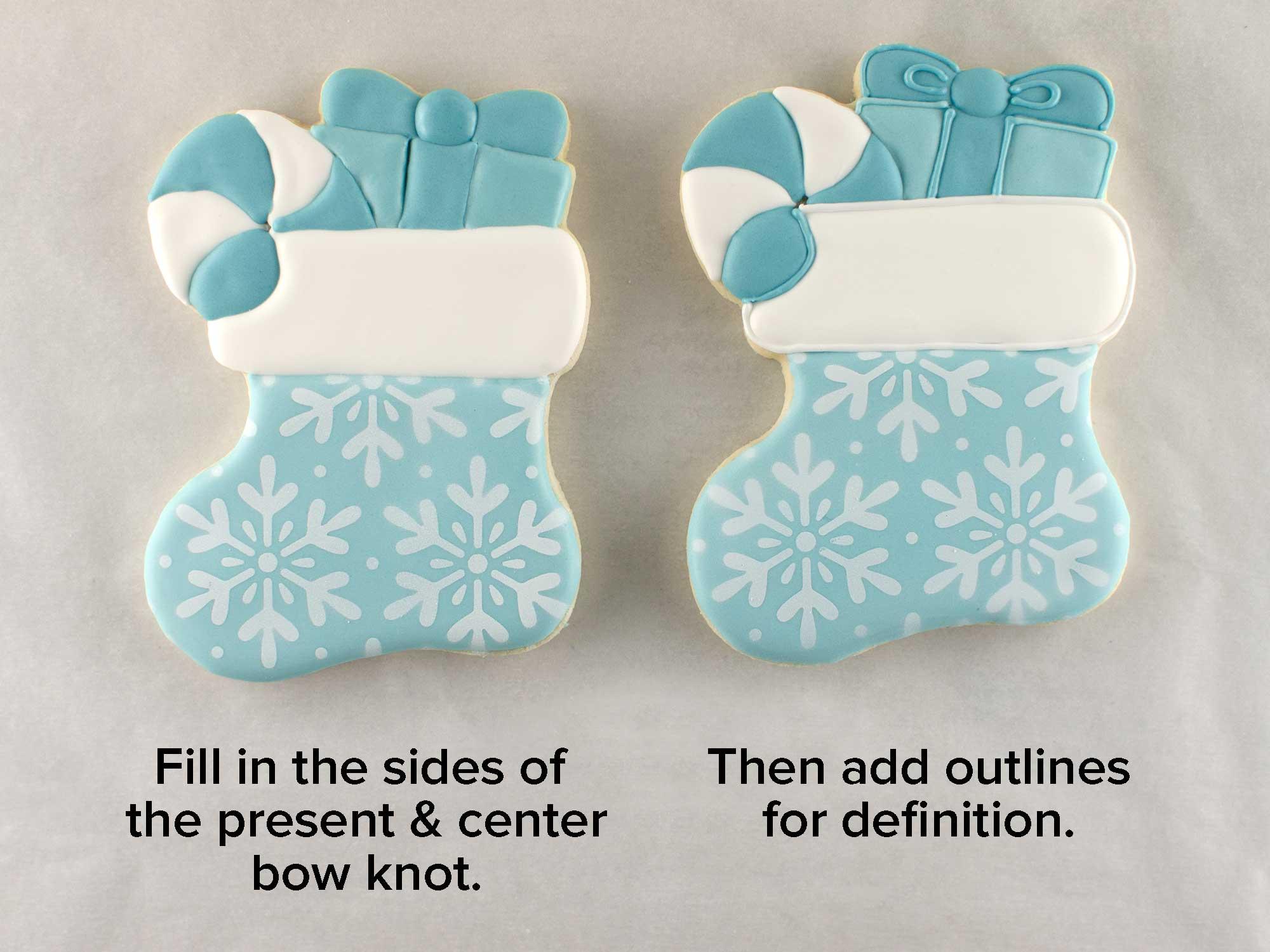 Christmas stocking cookies step 4