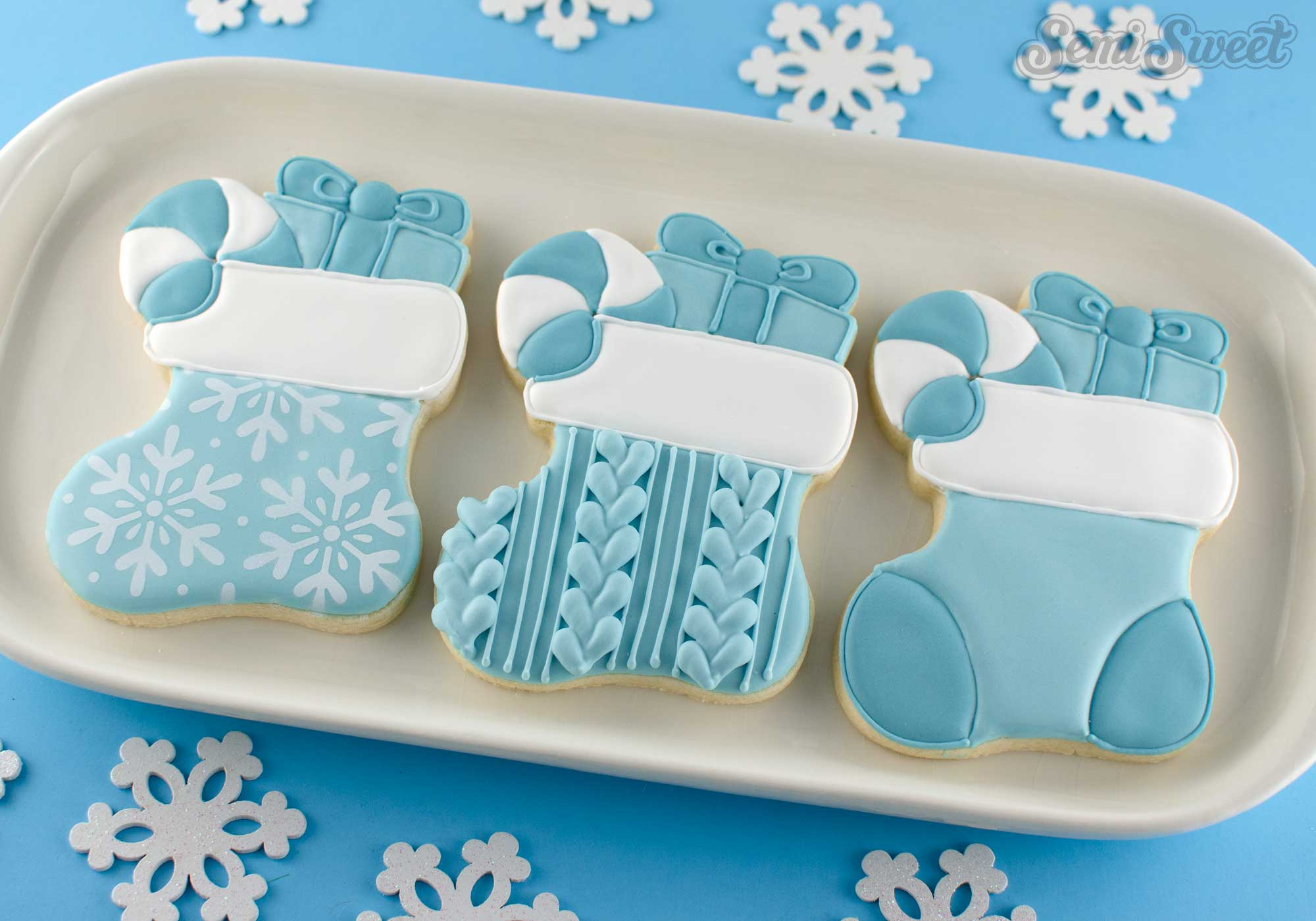 Christmas stocking cookies | Semi Sweet Designs