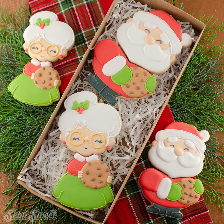 Santa and Mrs. Claus Cookies | Semi Sweet Designs