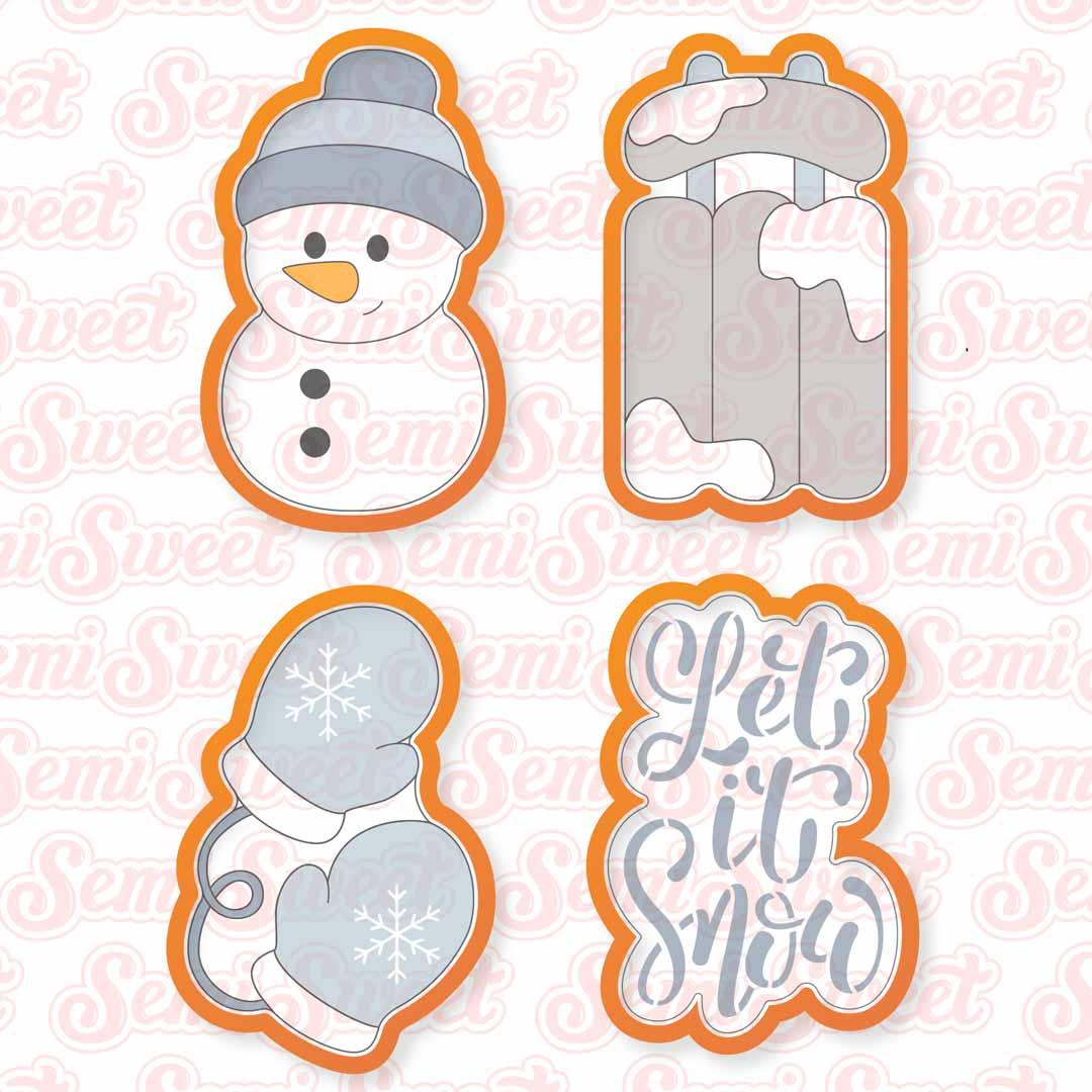 let it snow cookie cutter set | Semi Sweet Designs