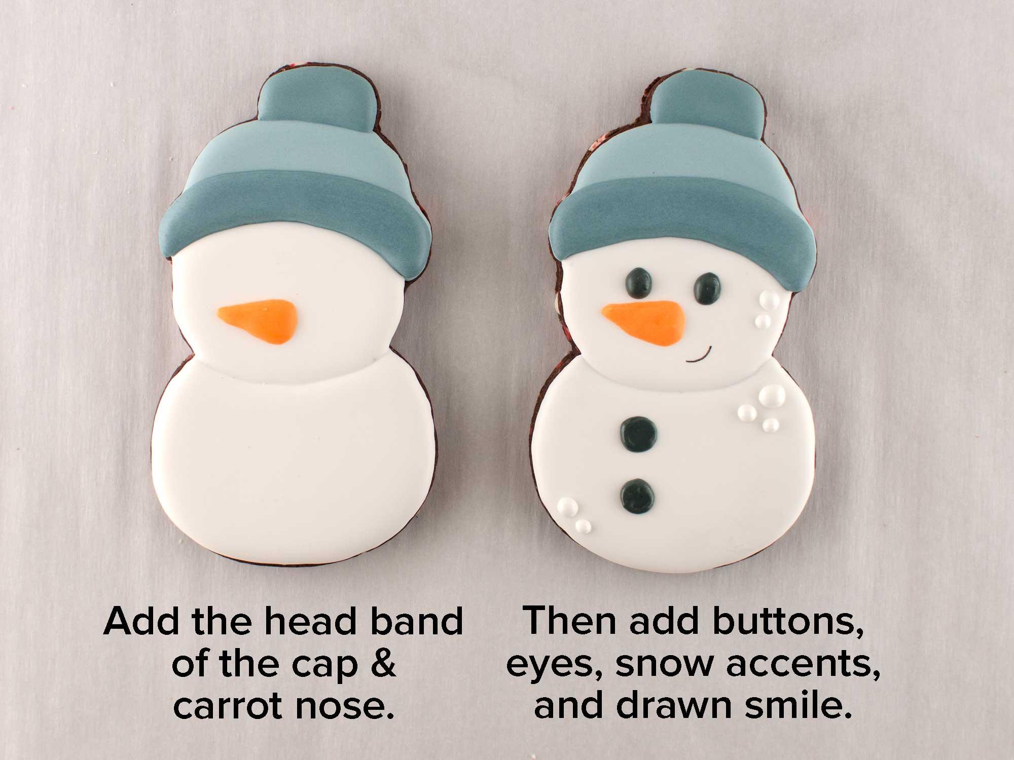 simple snowman cookies step 2