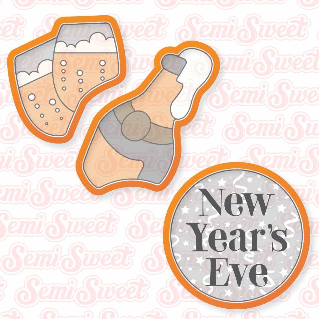 champagne platter cookie cutter set