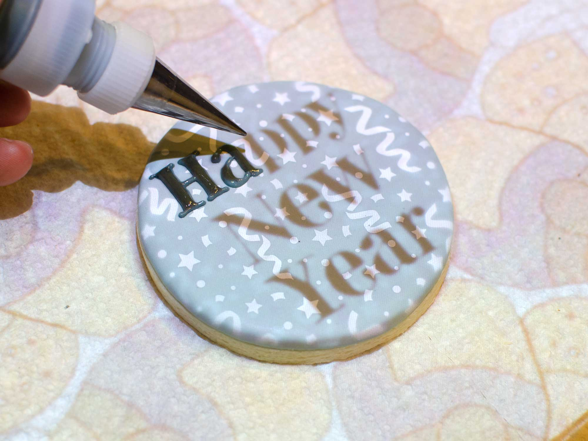 cookie projector writing
