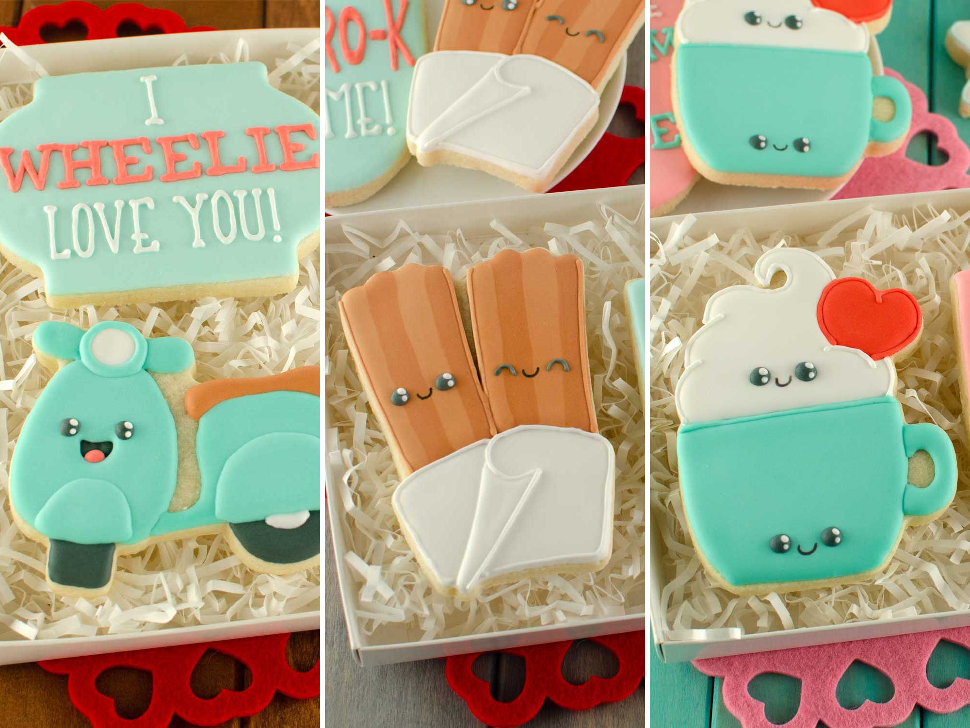 Valentine Pun Cookies