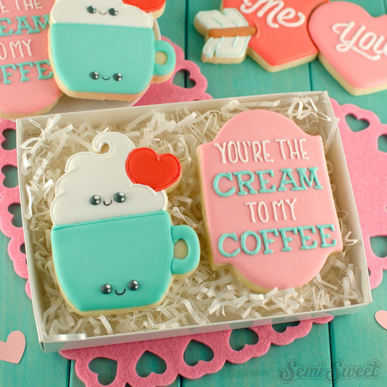 mug with cream cookies | Semi Sweet Designs