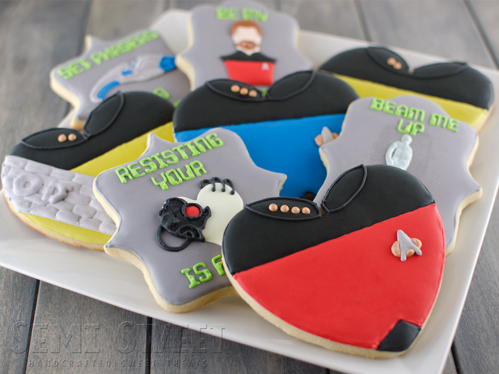 Star Trek Valentine Cookies and Giveaway