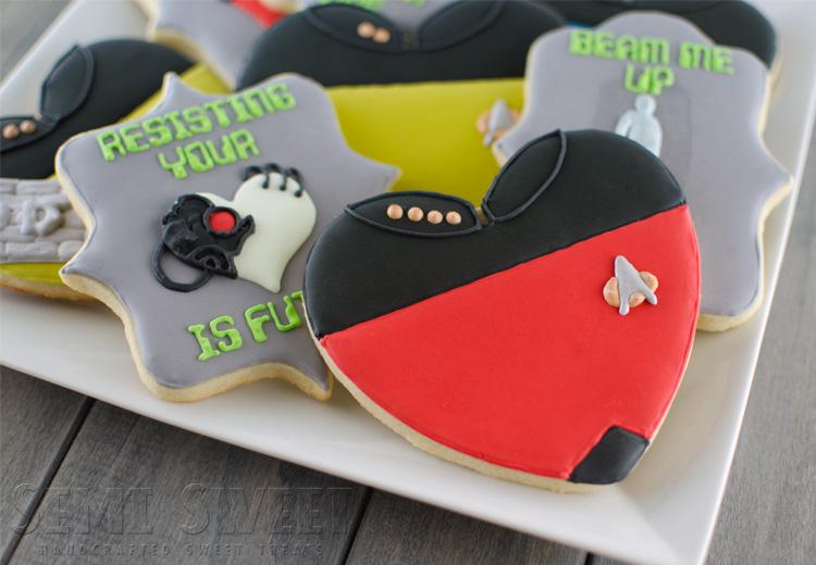 Star Trek Valentine Cookies | Semi Sweet Designs