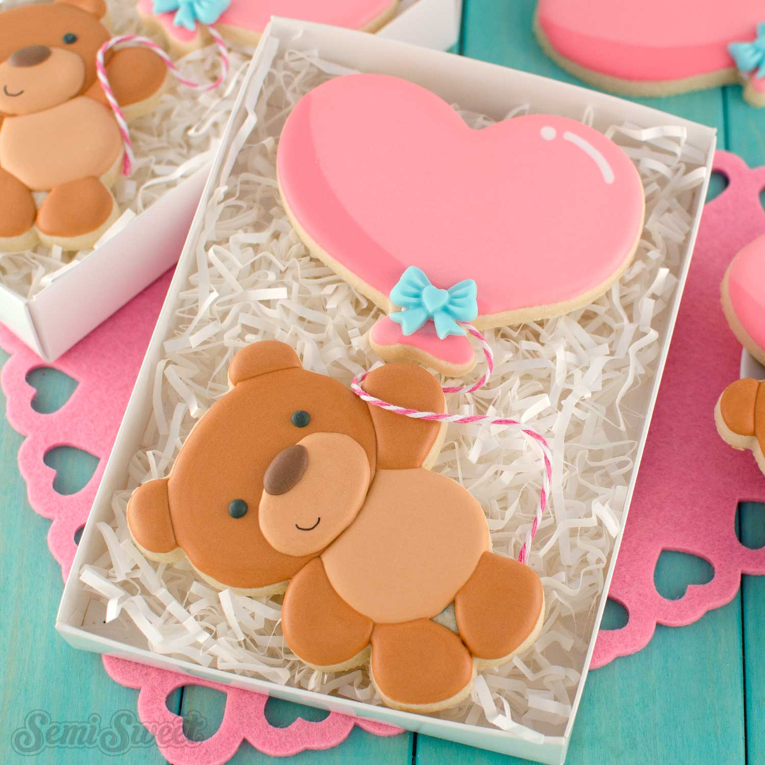How to Make a Balloon Teddy Bear Cookie Set