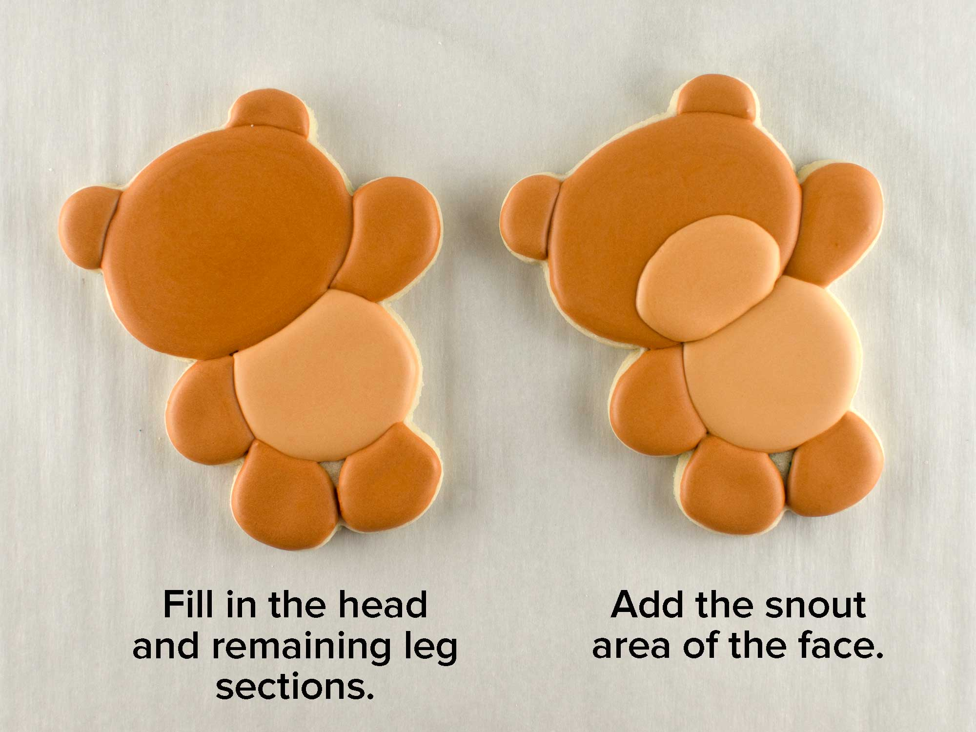 balloon teddy bear cookies step 2