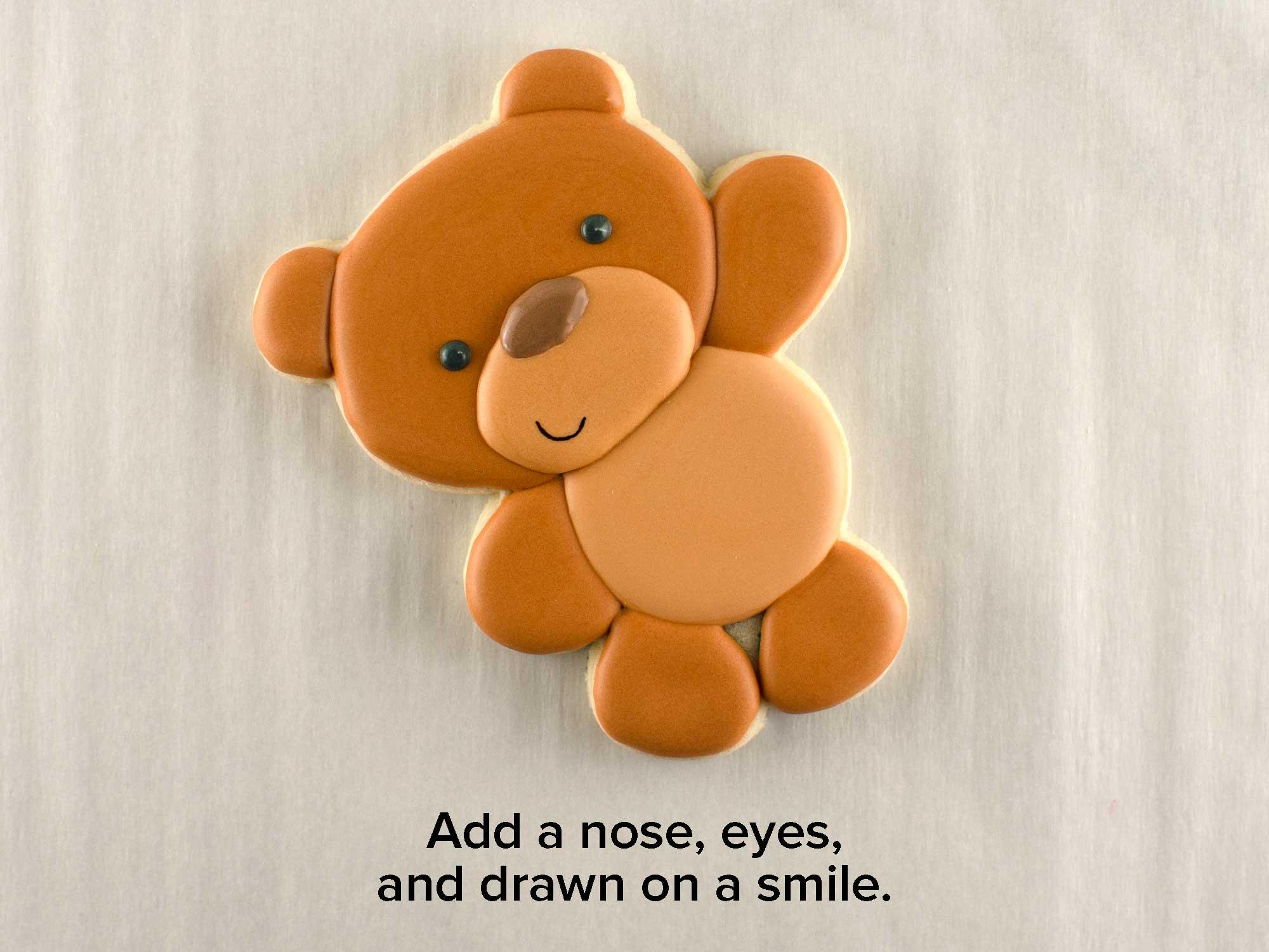 balloon teddy bear cookies step 3