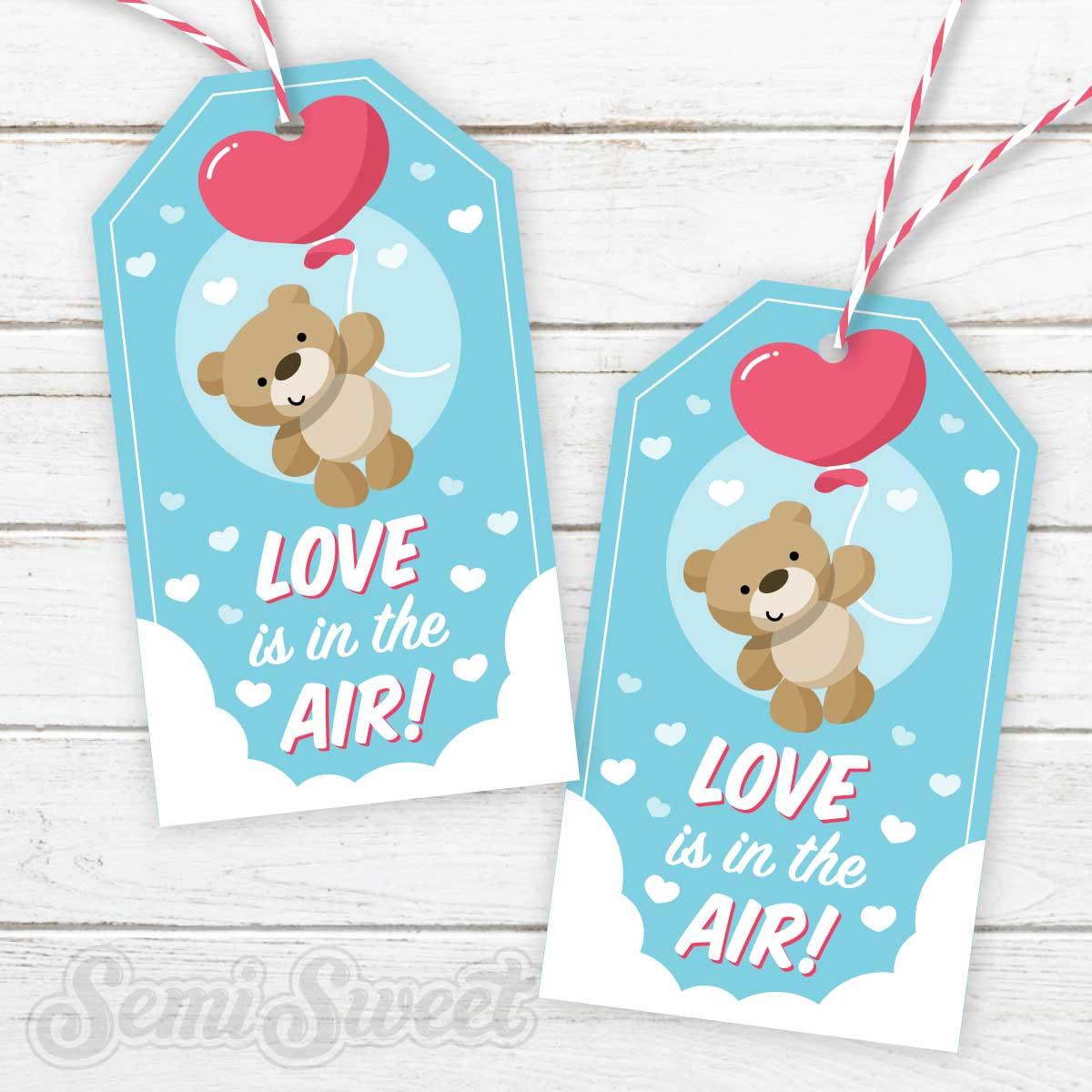 teddy bear cookie printable tag