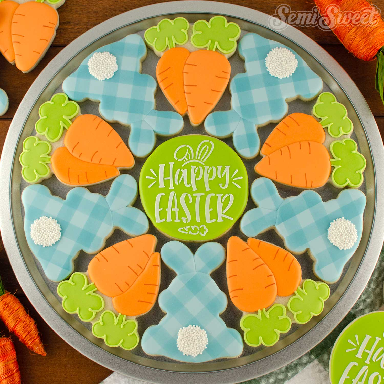 How to Make a Bunny & Carrot Cookie Platter