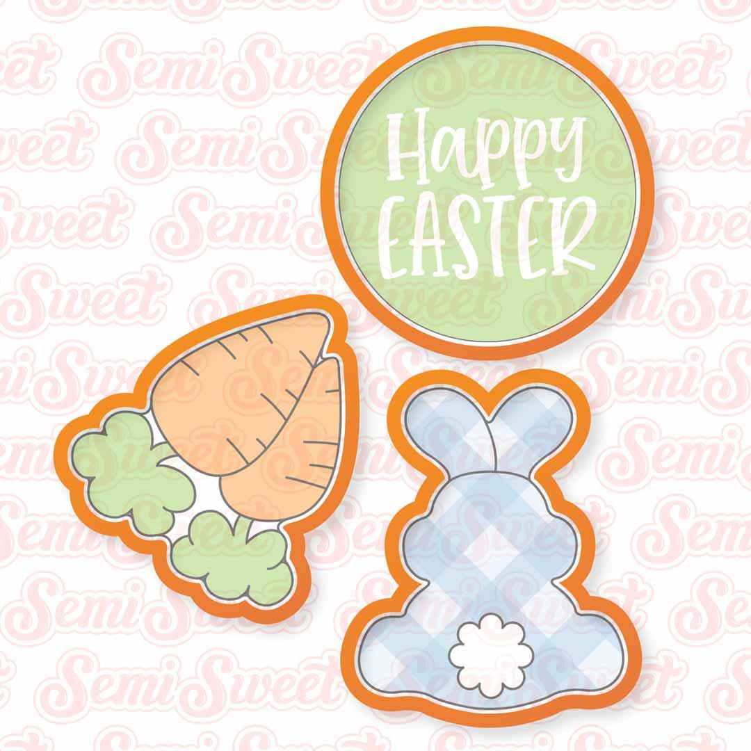 bunny & carrot platter cookie cutter set
