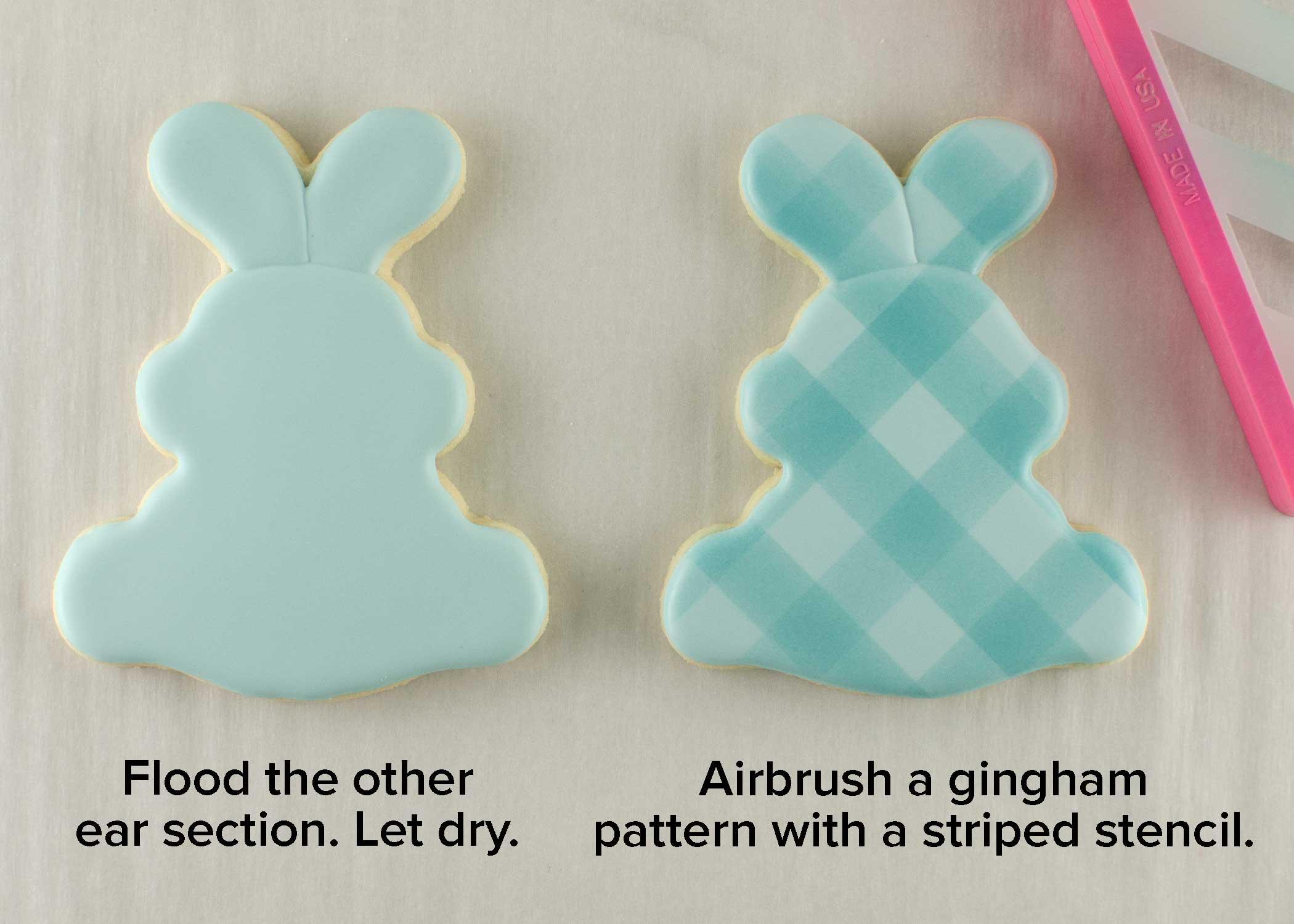 bunny & carrot platter cookie cutter step 2