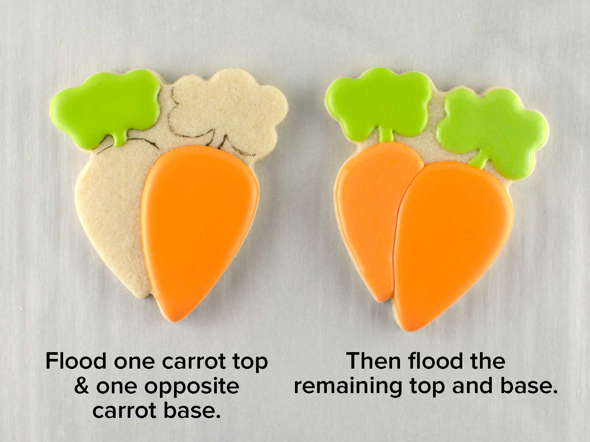 bunny & carrot platter cookie cutter step 4
