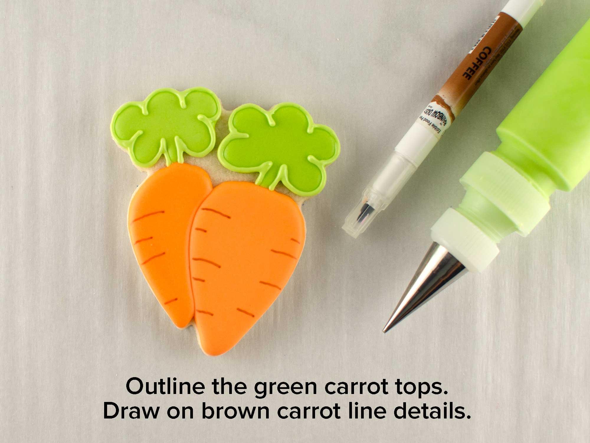 bunny & carrot platter cookie cutter step 5