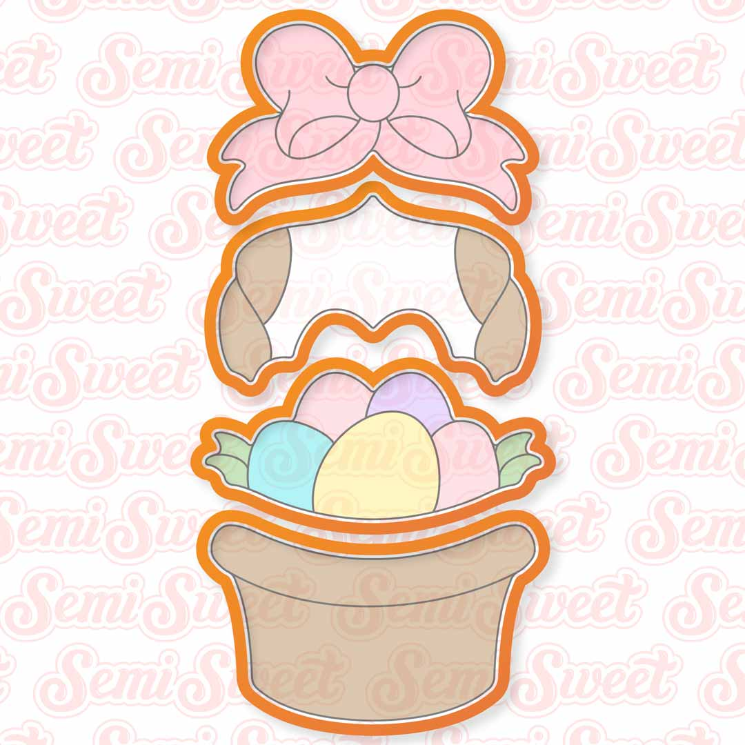 Easter Basket Cookie Cutter Set