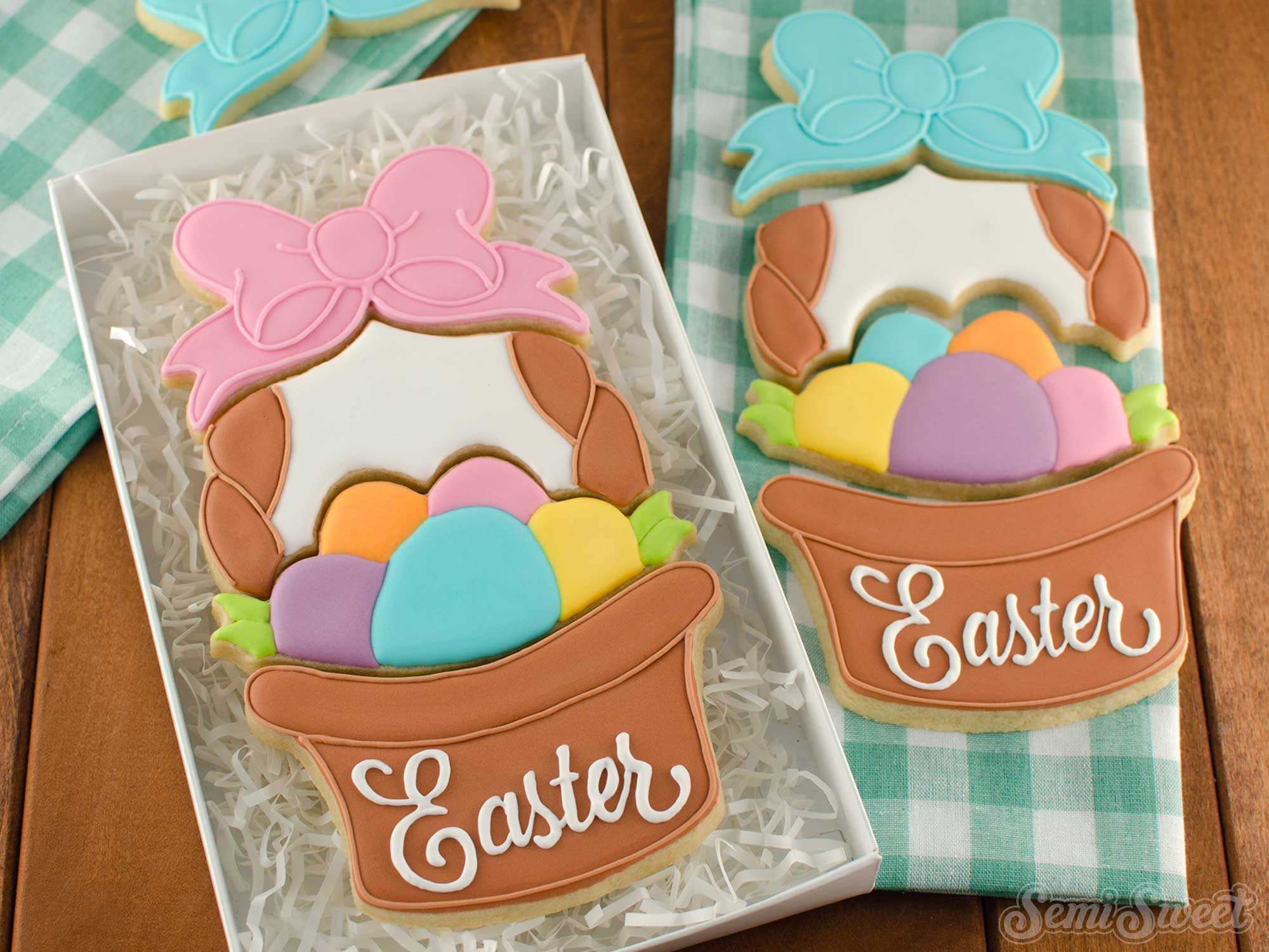 Easter Basket Cookie Set | Semi Sweet Designs